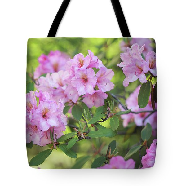 Beauty Of Pink Rhododendron Tote Bag