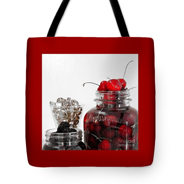 Beauty Of Red Cherries Tote Bag