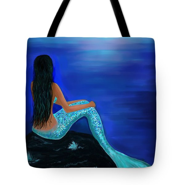 Tote Bag featuring the painting Beauty Of The Isle by Leslie Allen