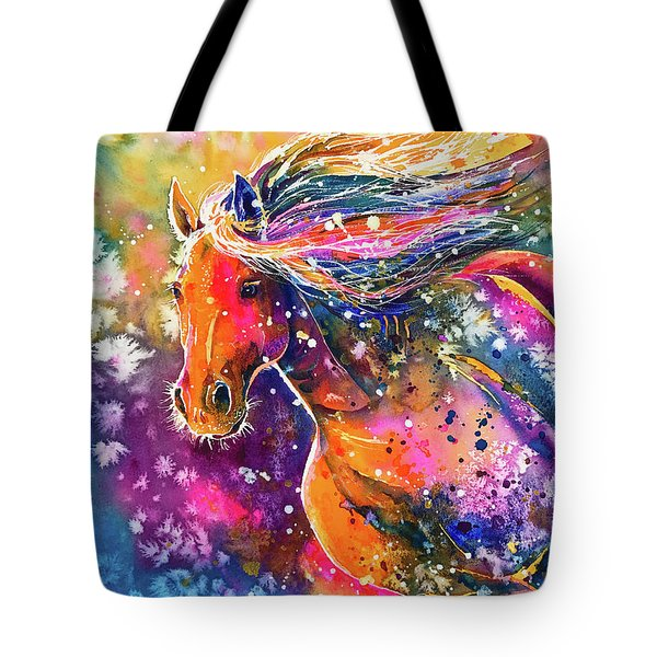 Tote Bag featuring the painting Beauty Of The Prairie by Zaira Dzhaubaeva