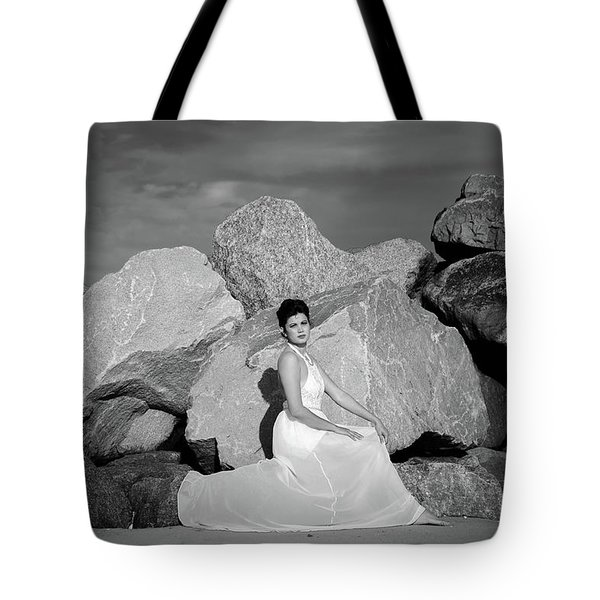 Beauty On The Rocks Tote Bag by Stefanie Silva
