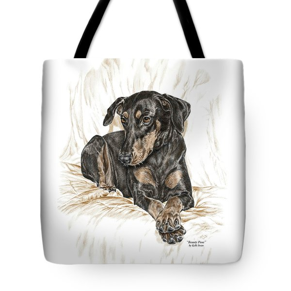 Beauty Pose - Doberman Pinscher Dog With Natural Ears Tote Bag
