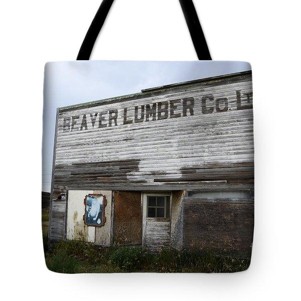 Beaver Lumber Company Ltd Robsart Tote Bag by Bob Christopher