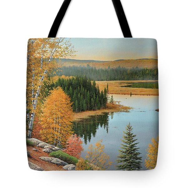 Beaver Pond Lookout Tote Bag