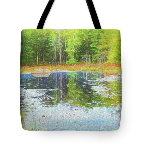 Beaver Pond Reflections Tote Bag