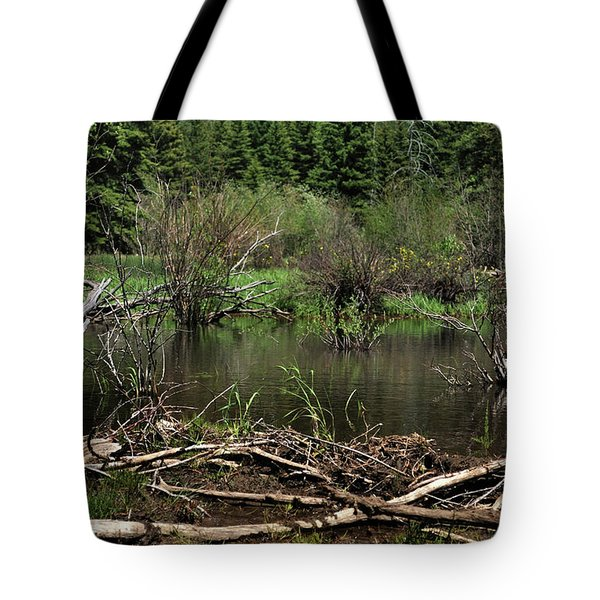 Tote Bag featuring the photograph Beaver Pond by Ron Cline