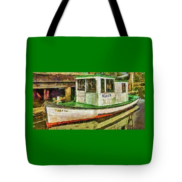 Tote Bag featuring the photograph Beaver The Old Fishing Boat by Thom Zehrfeld