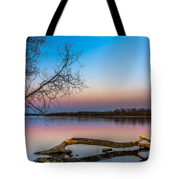 Tote Bag featuring the photograph Beavers' Work Reflected by Julis Simo