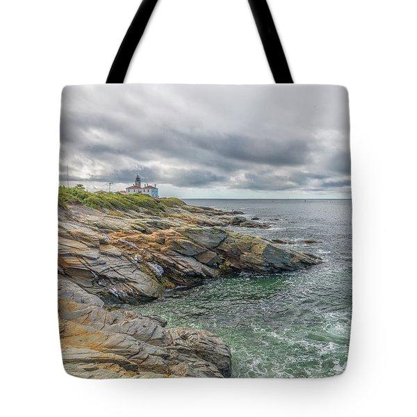 Beavertail Lighthouse On Narragansett Bay Tote Bag