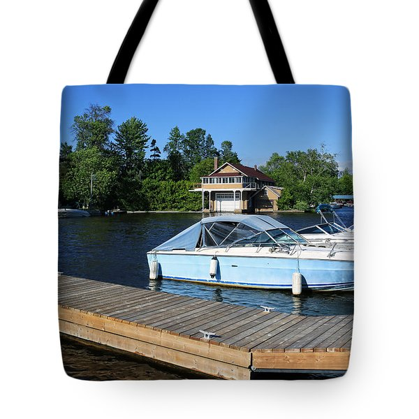 Beaverton Harbour And Historic Boathouse Tote Bag by Charline Xia