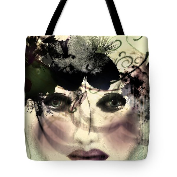 Tote Bag featuring the digital art Becca by Katy Breen