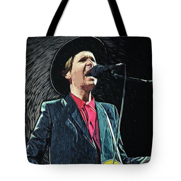 Tote Bag featuring the digital art Beck by Taylan Apukovska