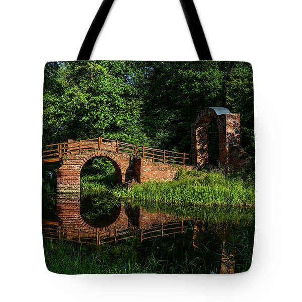 Beckerbruch Bridge Reflection Tote Bag