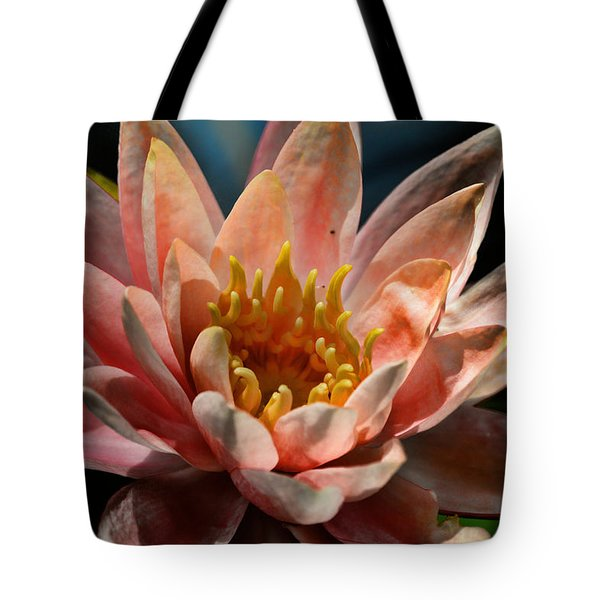 Beckoning The Sun Water Lily Tote Bag