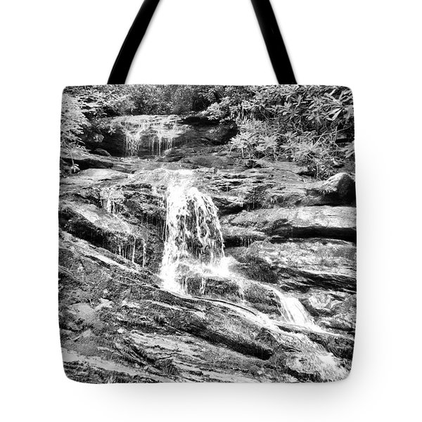 Becky Branch Falls In Black And White Tote Bag