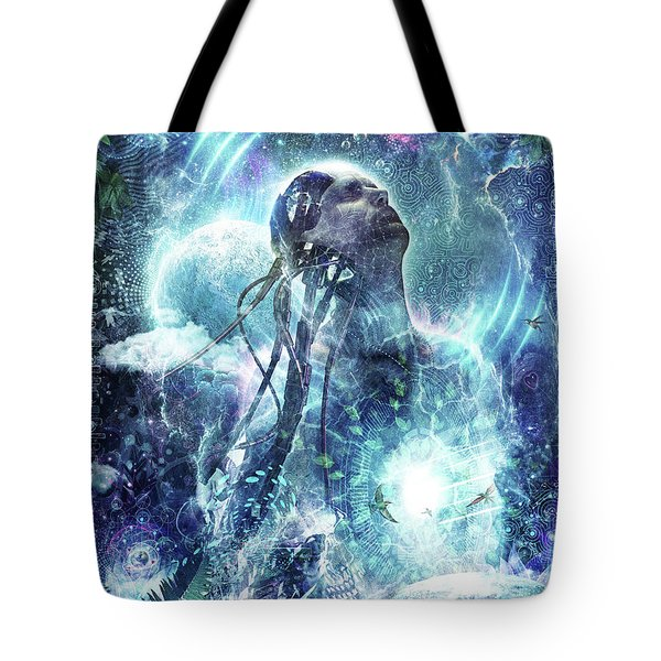 Become The Light Tote Bag by Cameron Gray