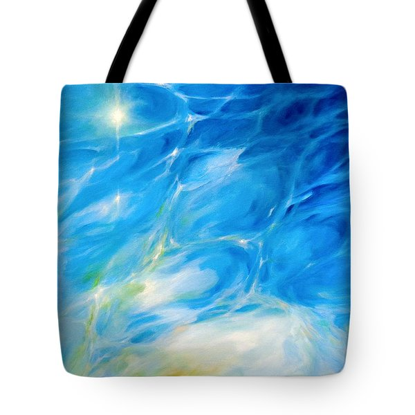 Tote Bag featuring the painting Becoming Crystal Clear by Dina Dargo