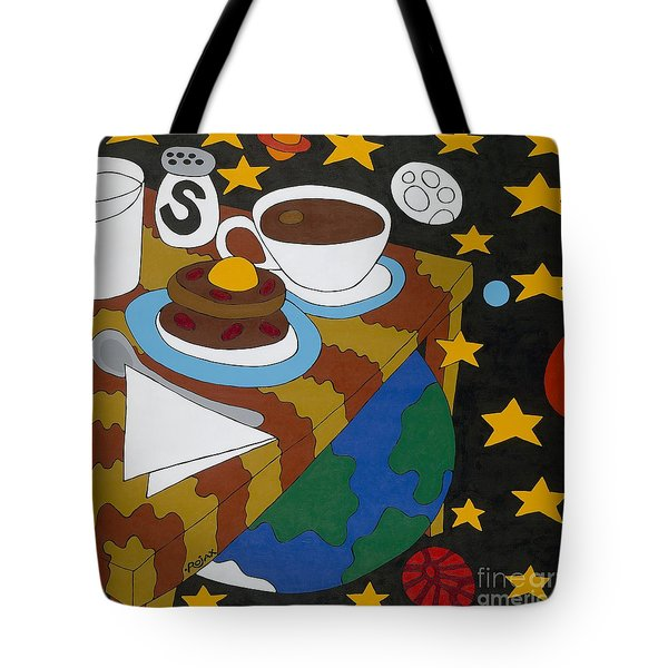 Bed And Breakfast Tote Bag by Rojax Art