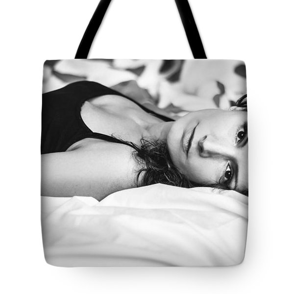 Bed Portrait Tote Bag