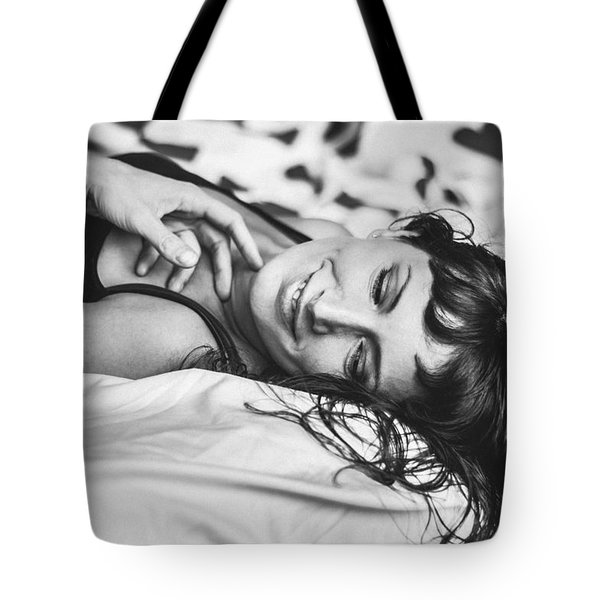 Bed Portraits Tote Bag