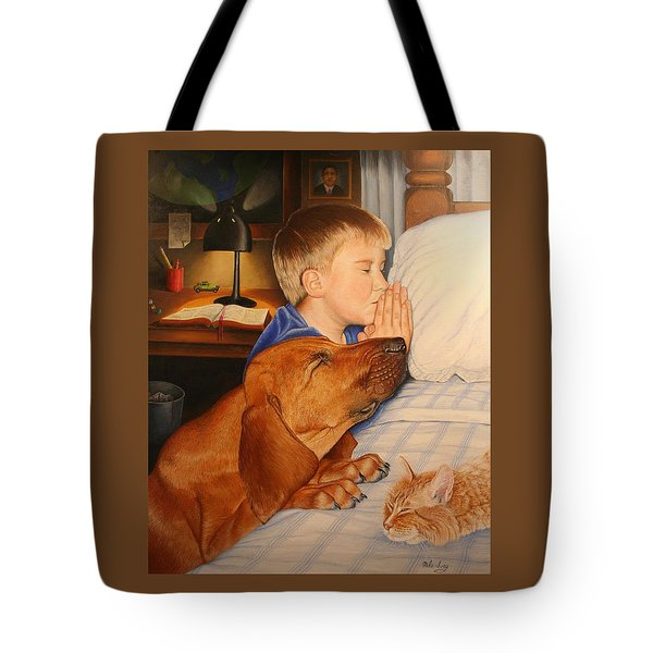 Bed Time Prayers Tote Bag by Mike Ivey