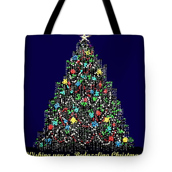 Bedazzled Christmas Card Tote Bag