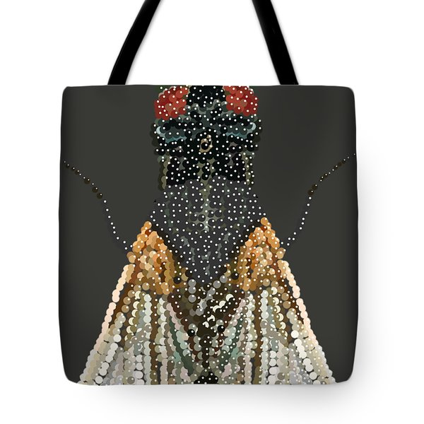 Bedazzled Housefly Transparent Background Tote Bag
