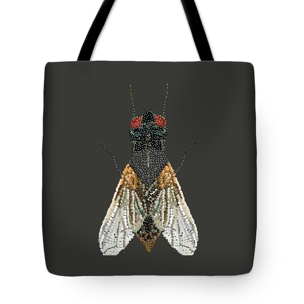 Bedazzled Housefly Transparent Background Tote Bag by R  Allen Swezey