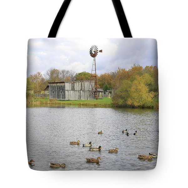 Tote Bag featuring the digital art Bedford Village by Sharon Batdorf