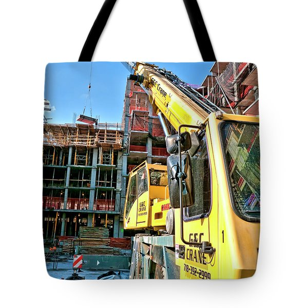 Tote Bag featuring the photograph Bedford6 by Steve Sahm