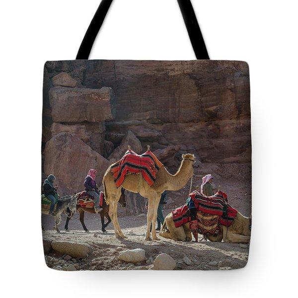 Bedouin Tribesmen, Petra Jordan Tote Bag