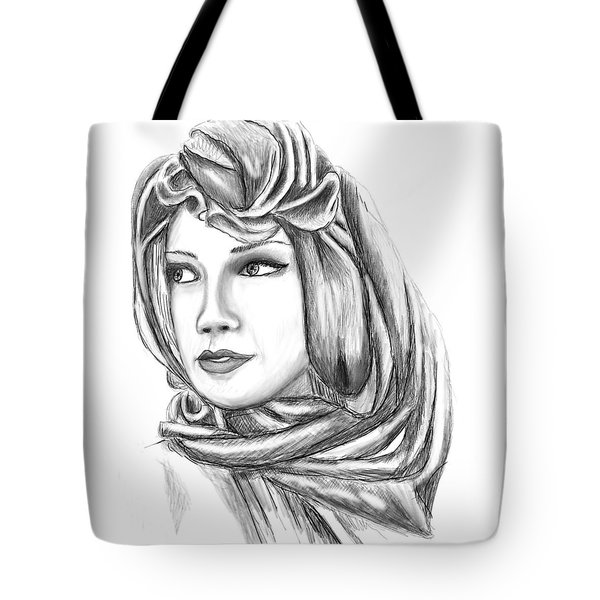 Bedouin Woman Tote Bag