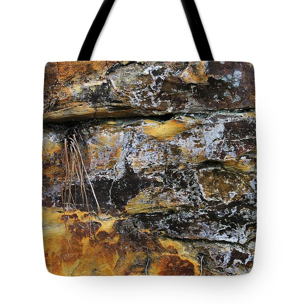 Tote Bag featuring the digital art Bedrock by Julian Perry