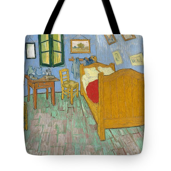 Tote Bag featuring the painting Bedroom At Arles by Van Gogh