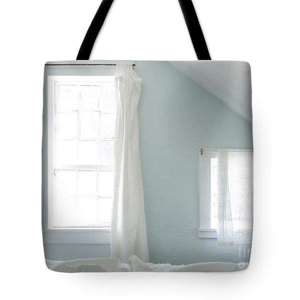 Bedroom Blues Tote Bag by John Greim