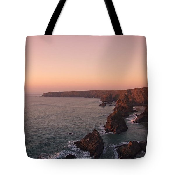 Bedruthan Steps Sunset Tote Bag