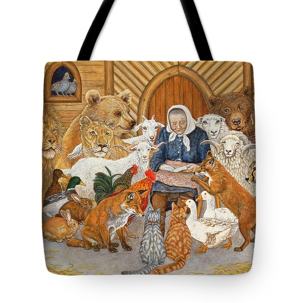 Bedtime Story On The Ark Tote Bag by Ditz