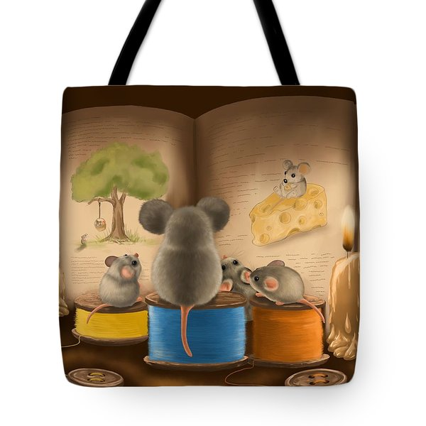 Bedtime Story Tote Bag by Veronica Minozzi
