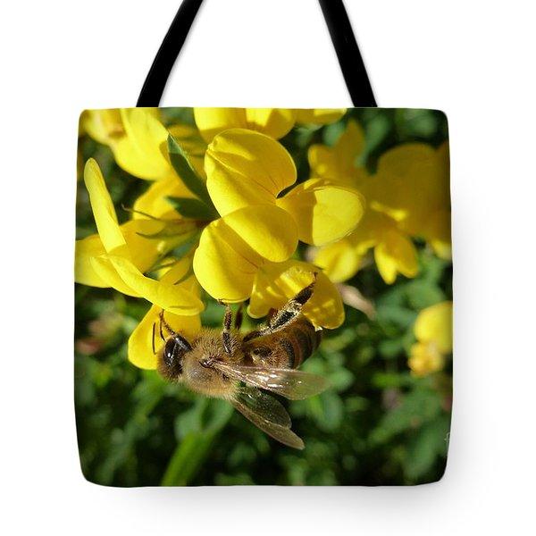 Bee And Broom In Bloom Tote Bag