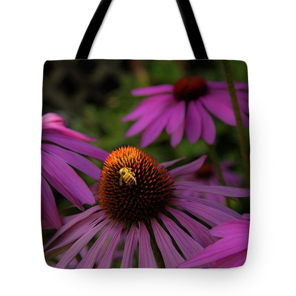 Bee And Coneflower Tote Bag