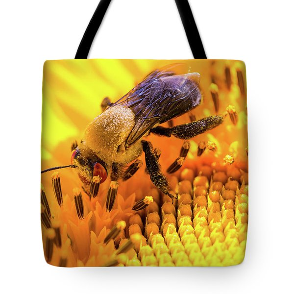 Bee And Sunflower Tote Bag