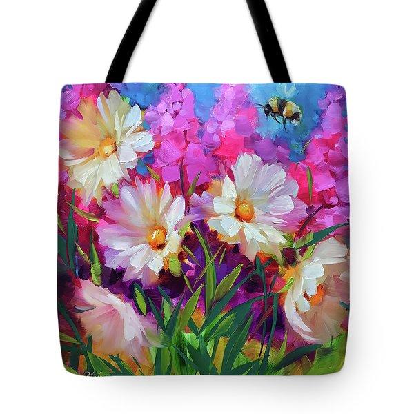 Bee Ballet Daisies Tote Bag
