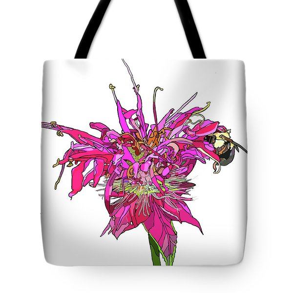 Bee Balm Tote Bag by Jamie Downs