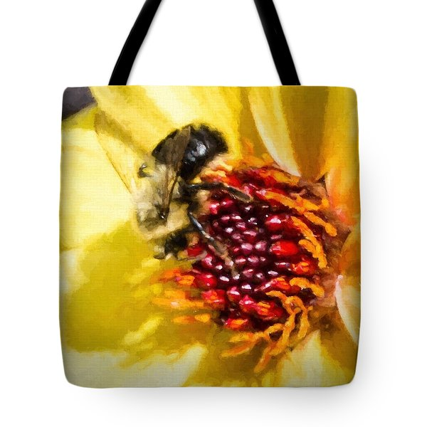 Tote Bag featuring the photograph Bee Good by Cathy Donohoue