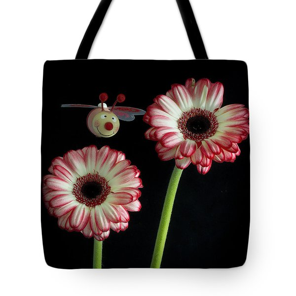 Bee Happy Tote Bag by Shirley Mitchell