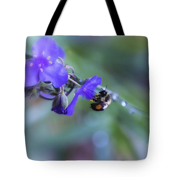 Tote Bag featuring the photograph Bee Harmony by Mary Lou Chmura