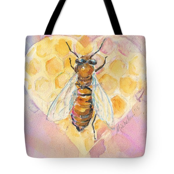 Bee Heart Tote Bag