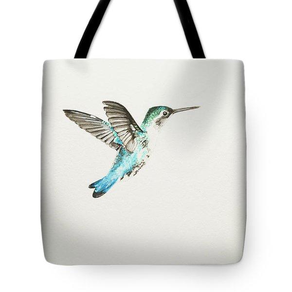 Bee Hummingbird Tote Bag