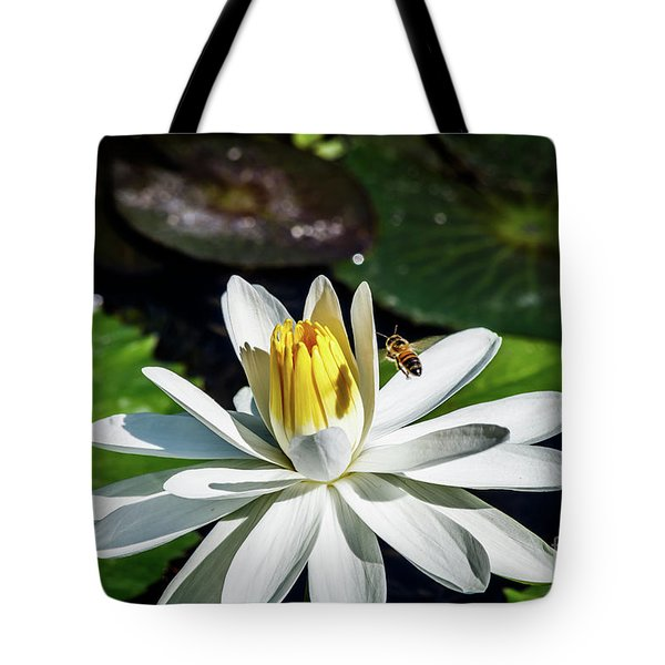 Bee In A Flower Tote Bag
