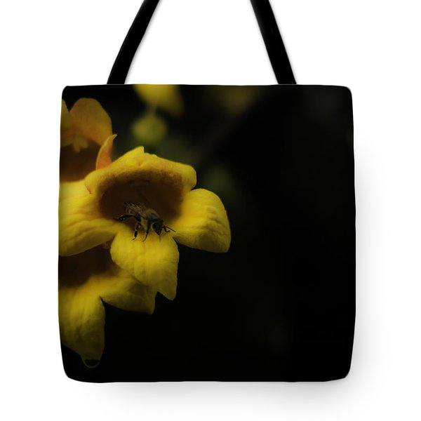 Bee In A Trumpet Tote Bag